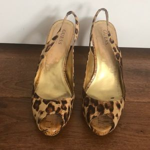 GUESS by Marciano Slingback leopard print heels
